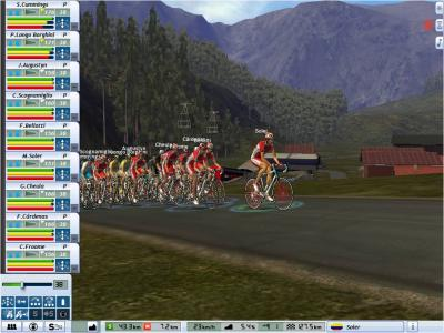 Barloworld leading the peleton in the Giro