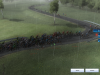 Crash breaking the peloton